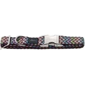 Ошейник Hunter Collar Krazy Zigzag ALU-Strong M/20 (40-55cм) нейлон с металлической застежкой мотив ''зигзаг'' для собак