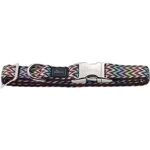 Ошейник Hunter Collar Krazy Zigzag ALU-Strong S/15 (30-45cм) нейлон с металлической застежкой мотив ''зигзаг'' для собак
