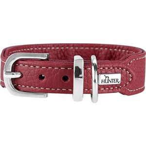 Ошейник Hunter Collar Cannes Mini 32 (23-28см) натуральная кожа бордовый для собак джинсы gaudi gaudi ga629emcgam4