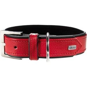 Ошейник Hunter Collar Capri 45 nickel (33-39см) натуральная кожа красный/черный для собак hunter ошейник для собак capri mini stars 30 23 27 см 1 6 натуральнаякожа красный