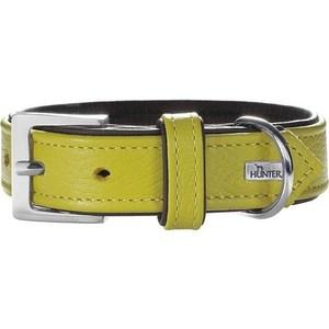 Ошейник Hunter Collar Capri 45 nickel (33-39см) натуральная кожа лайм/черный для собак ошейник hunter collar yuma 50 35 43см кожа черный для собак