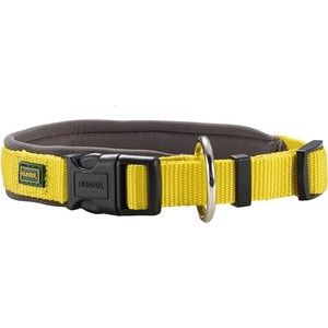 Ошейник Hunter Collar Neopren Vario Plus (50-55см) нейлон/неопрен желтый/бежевый для собак plus collar knot blouses