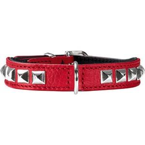 Ошейник Hunter Collar Rocky petit 30 nickel (23-27см) кожа красный для собак кальян цвет красный 23 см