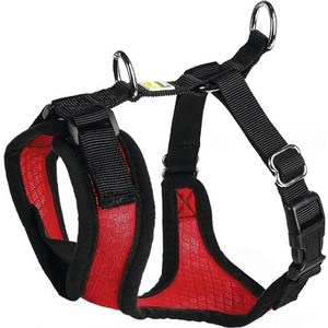 Шлейка Hunter Harness Manoa M (44-55см) нейлон/сетчатый текстиль красная для собак шлейка hunter harness manoa s 38 47см нейлон сетчатый текстиль голубая для собак