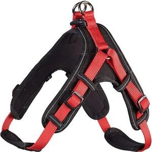 Фотография товара шлейка Hunter Harness Neopren Vario Quick L (67-80см) нейлон/неопрен красная/черная для собак (790188)