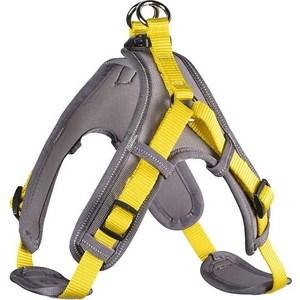 Шлейка Hunter Harness Neopren Vario Quick M (55-70см) нейлон/неопрен желтая/бежевая для собак шлейка regatta refl dog harness для собак цвет черный обхват груди 40 45 см размер s