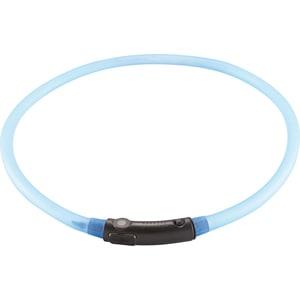 Шнурок Hunter LED Silicon Dog Tube Yukon 20-70 см голубой светящийся на шею для собак