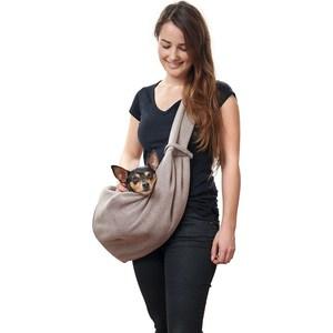 Фотография товара слинг Hunter Carrier bag Los Angeles 60x30 см бежевый/серый для кошек и собак (790219)