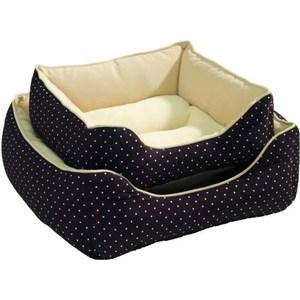 Фотография товара лежанка Hunter Dog Sofa White Dots софа коричневая для кошек и собак 40x40 см (790222)