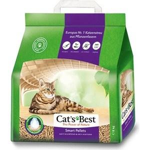 Фотография товара наполнитель Cat's Best Smart Pellets древесный комкующийся для кошек 5кг (10л) (790230)