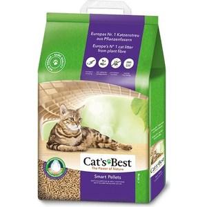 цена на Наполнитель Cat's Best Smart Pellets древесный комкующийся для кошек 10кг (20л)
