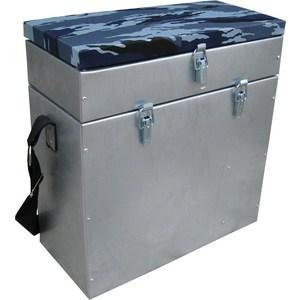Ящик для зимней рыбалки Тонар оцинкованный двухсекционный Helios 28л.