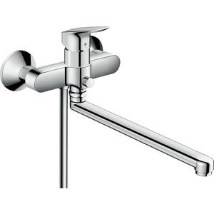Смеситель для ванны Hansgrohe Logis (71402000) универсальный держатель туалетной бумаги hansgrohe logis 40526000