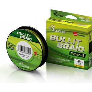 Рыболовная леска Allvega Bullit Braid 135м 0,08 рыболовная леска allvega bullit braid 135м 0 08