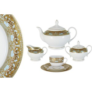 Чайный сервиз 42 предмета на 12 персон Bavaria Кобург (B-XW242T/42-AL) обеденный сервиз 50 предметов на 12 персон bavaria бремен b 17532 50