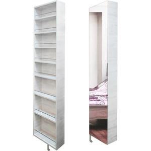 Поворотный зеркальный шкаф Shelf.On Драйв Шелф беленый дуб лево угловой шкаф премиум 82х45х240 см беленый дуб