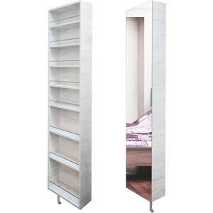 Поворотный зеркальный шкаф Shelf.On Драйв Шелф беленый дуб право угловой шкаф премиум 82х45х240 см беленый дуб