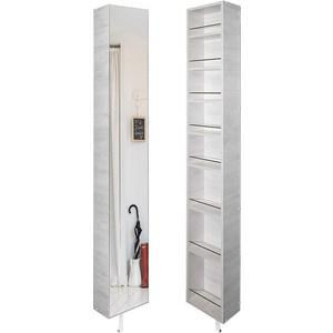 Поворотный зеркальный шкаф Shelf.On Лупо Шелф беленый дуб лево угловой шкаф премиум 82х45х240 см беленый дуб