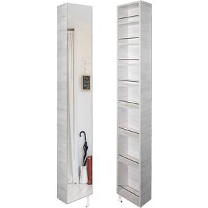 Поворотный зеркальный шкаф Shelf.On Лупо Шелф беленый дуб право угловой шкаф премиум 82х45х240 см беленый дуб