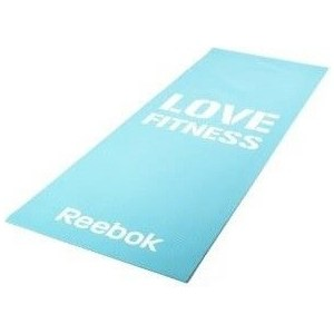 Фотография товара тренировочный коврик Reebok RAMT-11024BLL (мат) для фитнеса тонкий Love (голубой) (791240)