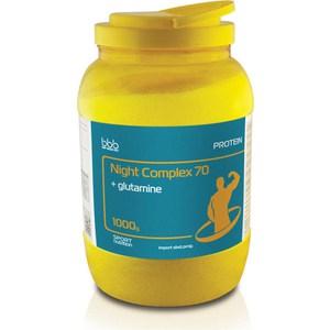 Комплекс-протеин BBB Night Complex (ваниль, 70% белка (казеин, сывороточный,молочный) 1 кг. сывороточный протеин bbb whey classic банан 70% белка и bcaa 1 кг