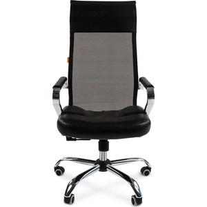 Офисное кресло Chairman 700 экопремиум черный/сетка офисное кресло chairman 659 terra черный матовый тем орех