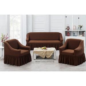 Набор чехлов для мягкой мебели 3 предмета Juanna Koza (9524коричневый)