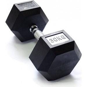 Гантель Original Fit.Tools гексагональная обрезиненная, хромированная ручка, 30 кг FT-HEX-30 помада divage crystal shine 30 цвет 30 variant hex name 8c0317