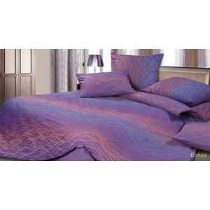Комплект постельного белья Ecotex Семейный, сатин, Волна (КГДВолна)