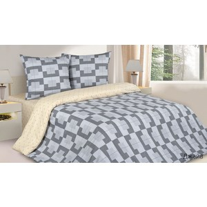 Комплект постельного белья Ecotex 1, 5 сп, поплин, Джайв (КП1Джайв) кпб шедевр р 1 5 сп