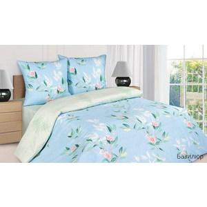 Комплект постельного белья Ecotex Евро с резинкой, поплин, Базилюр (КПРЕБазилюр)