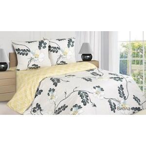 Комплект постельного белья Ecotex Евро с резинкой, поплин, Виола (КПРЕВиола)