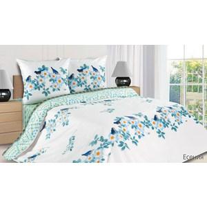 Комплект постельного белья Ecotex Евро с резинкой, поплин, Есения (КПРЕЕсения)