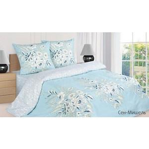 Комплект постельного белья Ecotex Евро с резинкой, поплин, Сен-Мишель (КПРЕСен-Мишель)