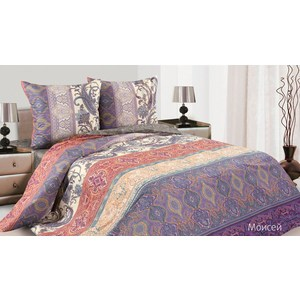 Комплект постельного белья Ecotex Евро, поплин, Моисей (КПЕМоисей)