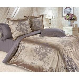 Комплект постельного белья Ecotex 1, 5 сп, сатин-жаккард, Карингтон(КЭ1Карингтон) цена