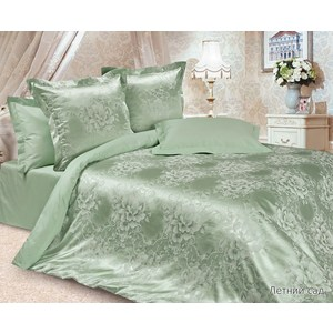 Комплект постельного белья Ecotex 2-х сп, сатин-жаккард, Летний сад(КЭМЛетний сад)