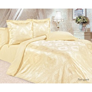 Комплект постельного белья Ecotex 2-х сп, сатин-жаккард, Лигурия(КЭМЛигурия)