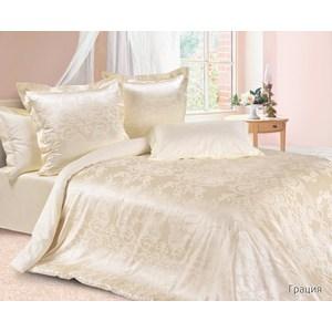 Комплект постельного белья Ecotex Евро, сатин-жаккард, Грация(КЭЕГрация)
