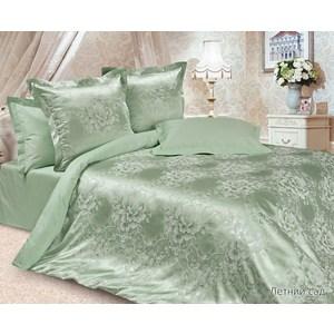 Комплект постельного белья Ecotex Евро, сатин-жаккард, Летний сад(КЭЕЛетний сад) цена