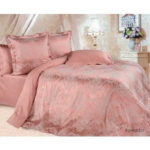 Комплект постельного белья Ecotex Евро, сатин-жаккард, Хрисафи(КЭЕХрисафи) комплект постельного белья ecotex евро сатин цветочный ноктюрн кгецветочный ноктюрн