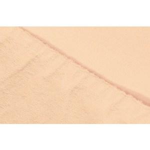 Простыня Ecotex на резинке махровая 160х200х20 персиковая (ПРМ16персиковый)