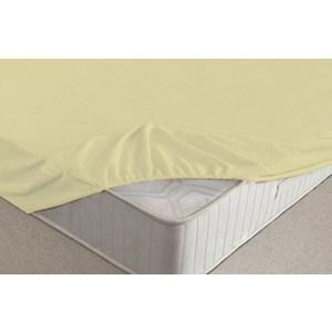 Простыня Ecotex на резинке махровая 200х220х20 желтая (ПРМ20желтый)