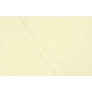 Простыня Ecotex на резинке трикотажная 200х200х20 нежно-желтая (ПРТ20нежно-желтый)