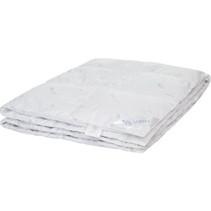 Двуспальное одеяло Ecotex пуховое кассетное 172х205 двуспальное одеяло ecotex лебяжий пух комфорт 172х205 олск2