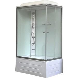 Душевая кабина Royal Bath 120x80x217 прозрачное стекло, задняя стенка белая, левая (RB8120BP5-WT-L)