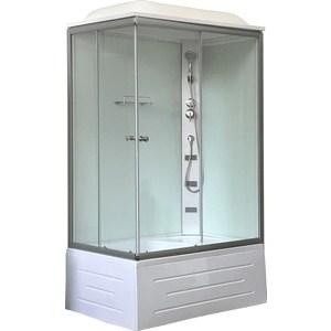 Фотография товара душевая кабина Royal Bath 120x80x217 прозрачное стекло, задняя стенка белая, правая (RB8120BP5-WT-R) (792950)