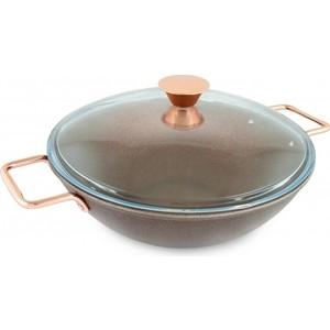 Сковорода wok d 30 см  крышкой Нева-Металл Saffran (73430Wc)