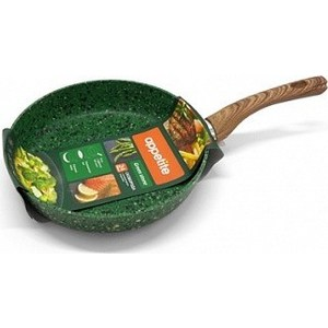 Сковорода d 24 см Appetite Green Stone (GS2241) сковорода d 20 см appetite grey stone gr2201