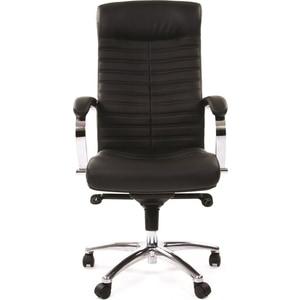 Офисное кресло Chairman 480 кожа/кз, черный офисноекресло chairman game 12 черный
